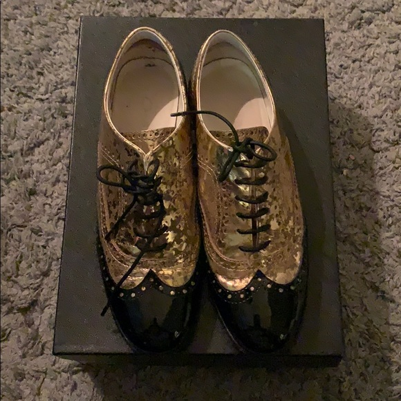 CHANEL Shoes - Chanel lace up flats